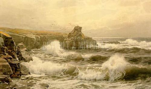 Breaking Water by William Trost Richards