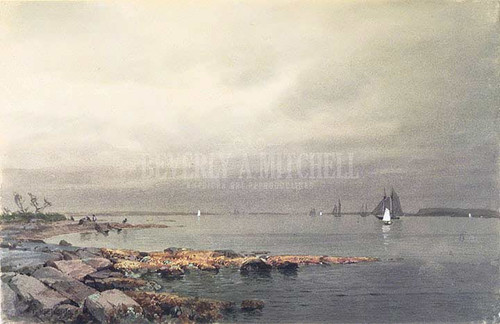 Calm Before A Storm Newport by William Trost Richards
