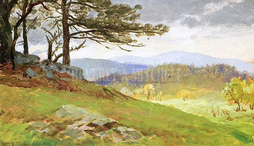 Canaan Landscape With Pine Trees by William Trost Richards