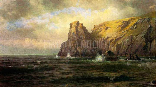 Cliffs Of Cornwall by William Trost Richards