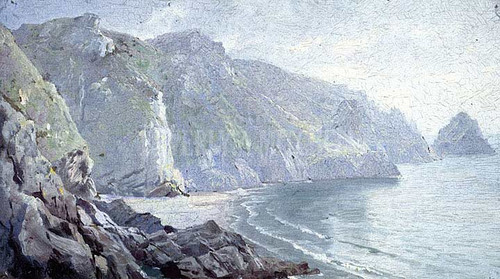 Cliffs On Cornish Coast by William Trost Richards