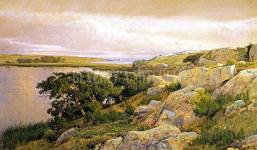 Cliffs Overlooking Bay by William Trost Richards
