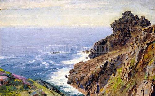 Coast Near Boscastle Cornwall by William Trost Richards