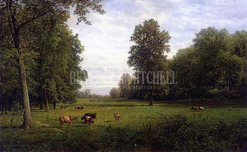 Cows In A Pasture by William Trost Richards