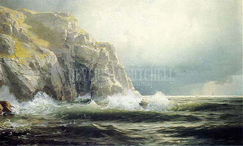Guernsey Cliffs Channel Islands by William Trost Richards