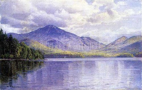Lake Placid Adirondack Mountains by William Trost Richards