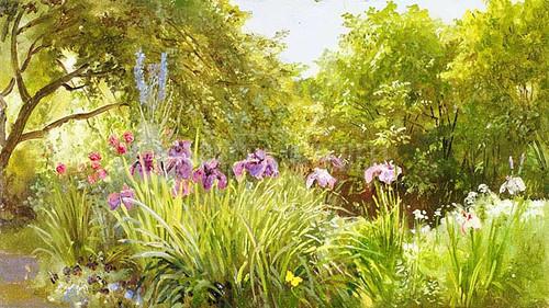 Miss Bridges Garden Canaan by William Trost Richards