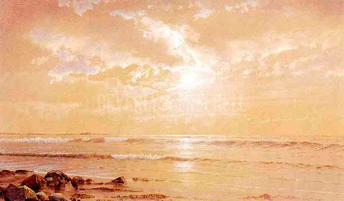 On The Beach Moonlight by William Trost Richards