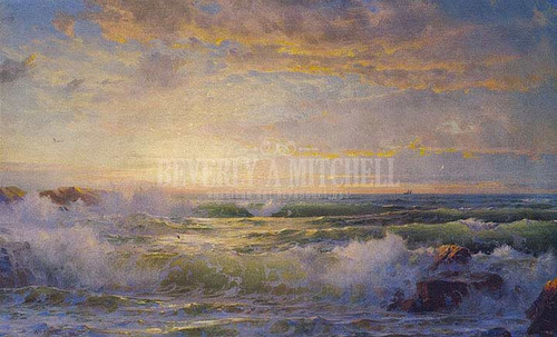 Seascape At Dusk by William Trost Richards