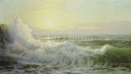 Sunlit Waves by William Trost Richards
