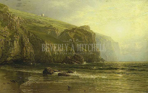 Sunset Along The Coast Of Cornwall by William Trost Richards