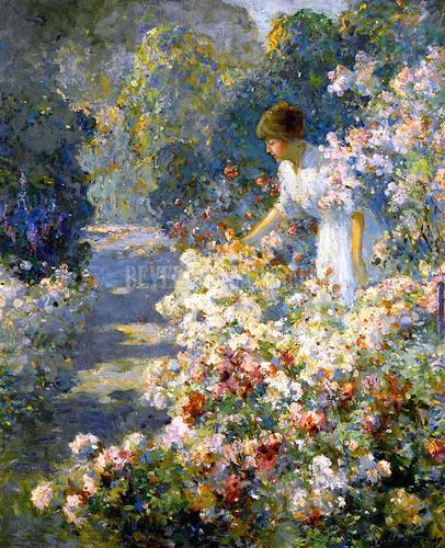Morning In The Garden by Abbott Fuller Graves