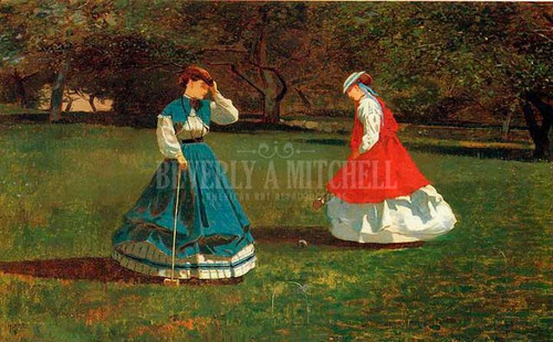 A Game Of Croquet by Winslow Homer