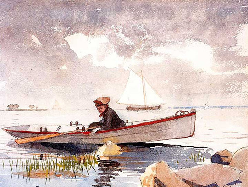 A Girl In A Punt by Winslow Homer