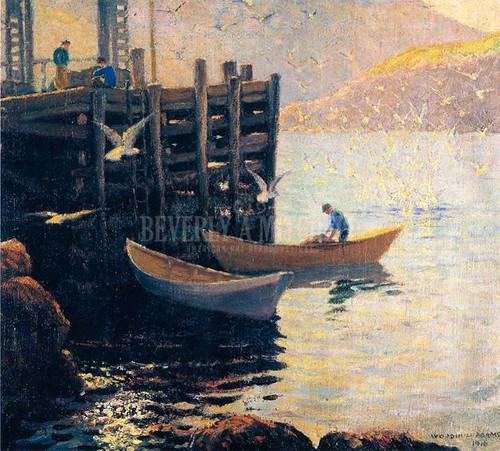 Below The Wharf by Woodhull Adams