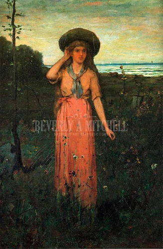 Picking Flowers By The Sea by Abbott Fuller Graves