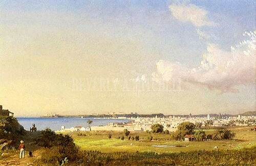 Havana Bay Morro Castle by Charles De Wolf Brownell