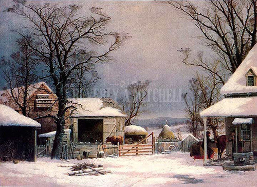 Farmyard Winter by George Henry Durrie