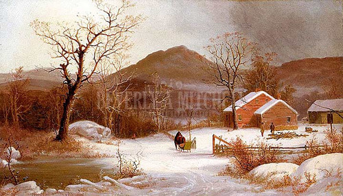 Winter Landscape by George Henry Durrie