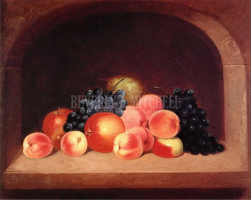 Still Life In Stone Alcove by George Henry Durrie