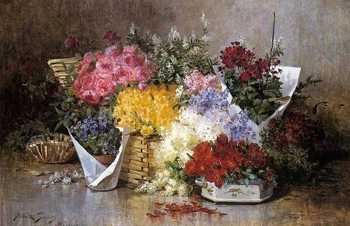 Floral Still Life. by Abbott Fuller Graves