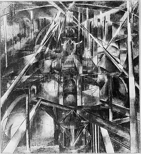 Brooklyn Bridge 1918 by Joseph Stella