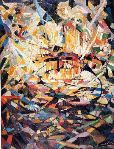 Battle Of Lights Coney Island by Joseph Stella