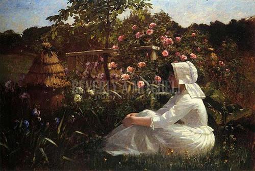 In A Field Of Flowers by Abbott Fuller Graves