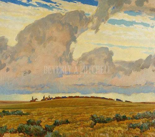 Cattle Range 1921 by Maynard Dixon