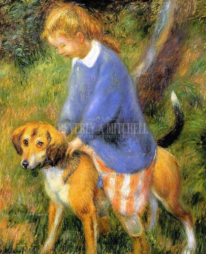 Lenna With Rabbit Hound by William James Glackens