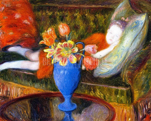 Lenna Resting by William James Glackens
