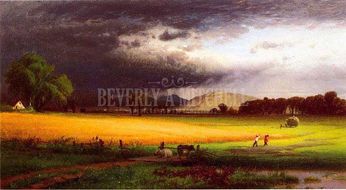 Harvest Scene   Valley Of The Delaware by William M. Hart
