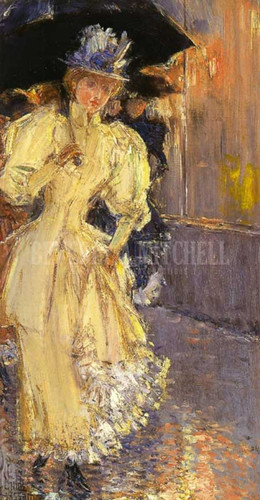 A Rainy Day New York by Frederick Childe Hassam