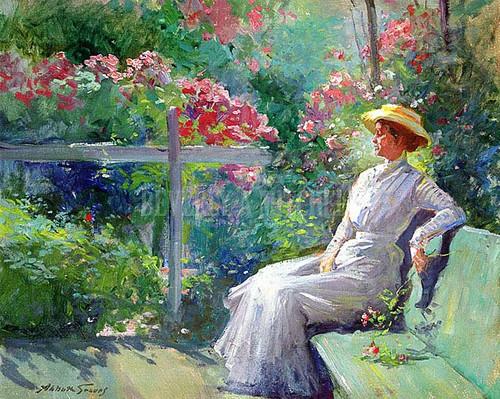 Lady In The Garden by Abbott Fuller Graves