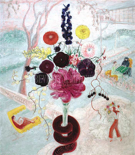 Birthday Bouquet (Also Known As Flowers With Snake) by Florine Stettheimer