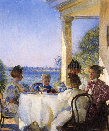 Breakfast On The Piazza by Edmund Tarbell