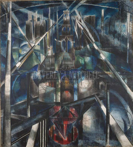 Brooklyn Bridge 1920 by Joseph Stella