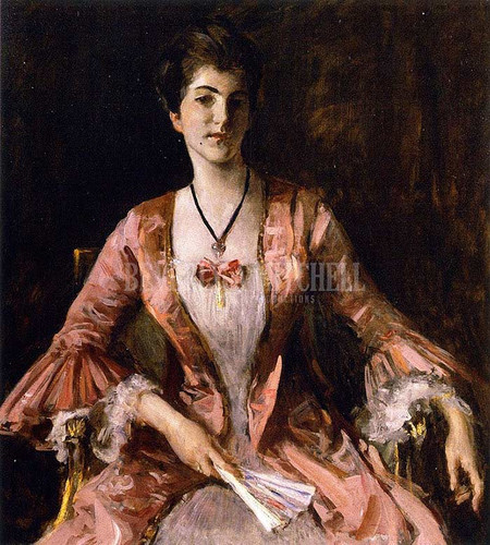 Dorothy by William Merritt Chase  Oil on Canvas Reproduction from Beverly A Mitchell American Art Gallery.