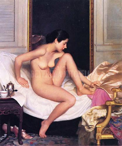 Nude In Interior by William Macgregor Paxton