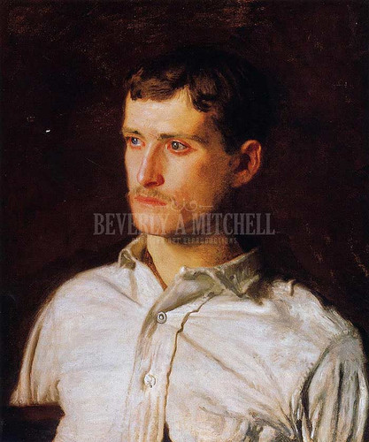 Portrait Of Douglass Morgan Hall by Thomas Eakins  Oil on Canvas Reproduction from Beverly A Mitchell American Art Gallery.
