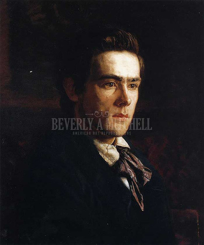 Portrait Of Samuel Murray by Thomas Eakins  Oil on Canvas Reproduction from Beverly A Mitchell American Art Gallery.