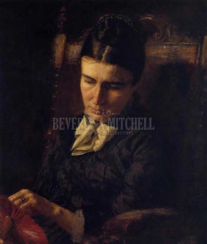 Portrait Of Sarah Ward Brinton 1878 by Thomas Eakins
