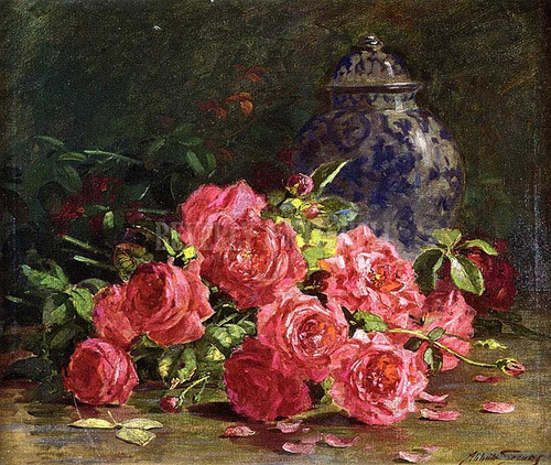 Still Life With Roses And Ginger Jar by Abbott Fuller Graves