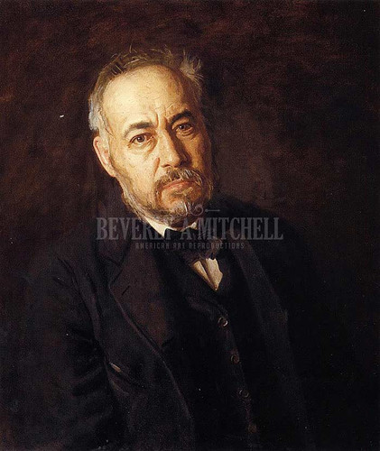 Self Portrait by Thomas Eakins  Oil on Canvas Reproduction from Beverly A Mitchell American Art Gallery.