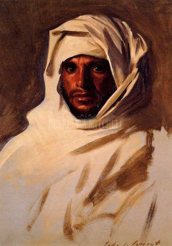 A Bedouin Arab by John Singer Sargent Oil on Canvas Reproduction from Beverly A Mitchell American Art Gallery. All Artwork can be optionally framed. We ship Worldwide.