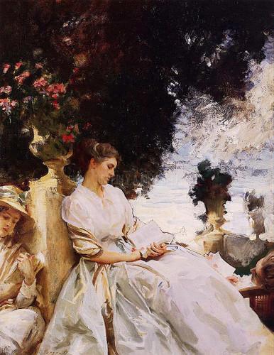 In The Garden Corfu by John Singer Sargent