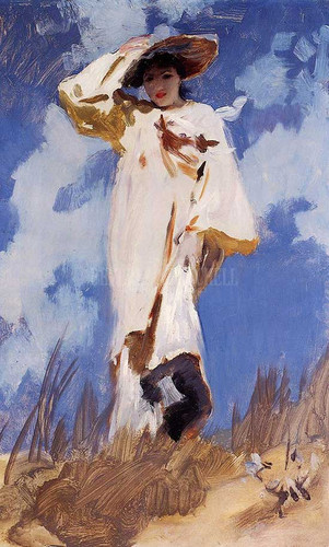 A Gust Of Wind Aka Judith Gautier by John Singer Sargent