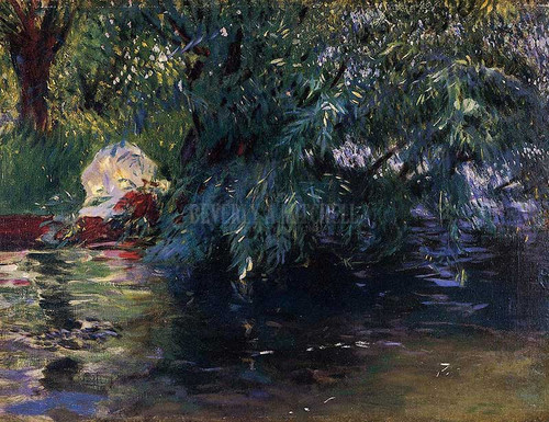 A Backwater Calcot Mill Near Reading by John Singer Sargent