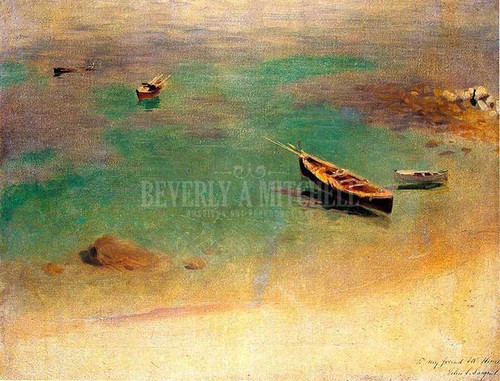 A Boat In The Waters Off Capri by John Singer Sargent