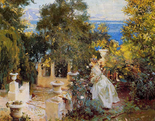 A Garden In Corfu by John Singer Sargent